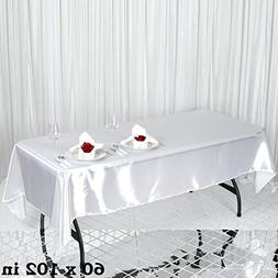LinenTablecloth 60 x 102-Inch Rectangular Satin Tablecloth W
