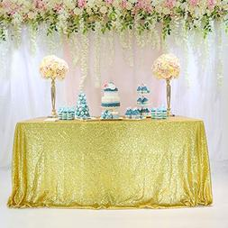 TRLYC Christmas 60 by 102-Inch Fathers'Day Gold Wedding Sequ