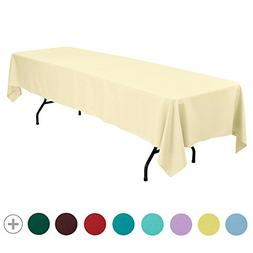VEEYOO 60 x 126 inch Rectangular Solid Polyester Tablecloth