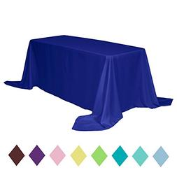 VEEYOO 90 x 132 inch Rectangular Solid Polyester Tablecloth