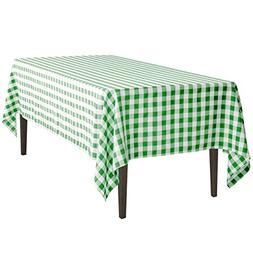LinenTablecloth 60 x 102-Inch Rectangular Tablecloth Green &