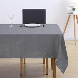 Deconovo Recycle Cotton Rectangle Tablecloth Stain Resistant