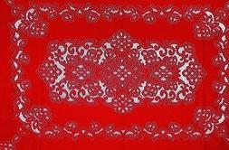 """Red Artistry Lace Tablecloth 60"""" x 120"""" Rectangular Diningro"""