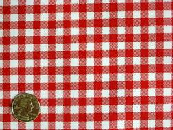 RED GINGHAM CHECK RETRO KITCHEN AMERICAN DINING OILCLOTH VIN