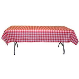 """Red Gingham Checkerboard plastic table cover - 54"""" x 108"""""""