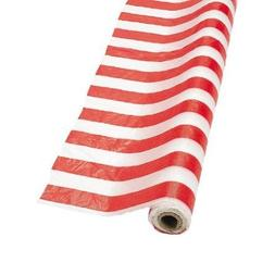 Red/White Striped Tablecloth Roll