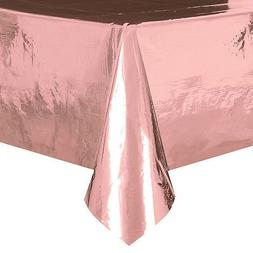 Rose Gold Metallic Foil Plastic Tablecover Rose Gold Party P