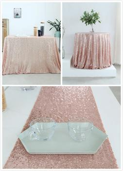 Rose Gold Sequin Table Cover Table Cloth Table Runner Table