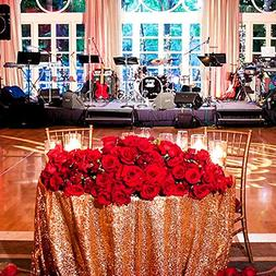 SoarDream Sequin Tablecloth Rose Gold Sparkly Table Overlays