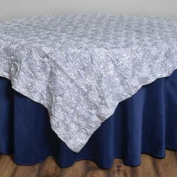 rosette satin square overlay tablecloth