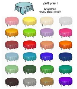 "Round 84"" Plastic Table Cover Birthday Wedding Party Supplie"