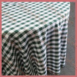 Round 108 inches Tablecloth Checker Polyester Buffalo Gingha