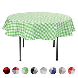 VEEYOO Plaid Check Tablecloth Gingham 100% Cotton for Home K