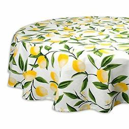 DII Round Cotton Tablecloth for Autumn, Thanksgiving, Cateri