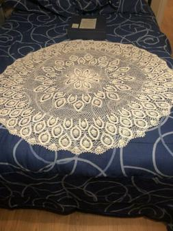 Round Crochet Tablecloth / Table Topper Gift From Japanese S