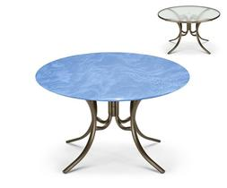 """Round Fitted Vinyl Table Cover for Glass Tables up to 35"""" Di"""