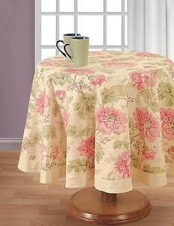 Round Floral Tablecloth - 60 inches in Diameter - Tablecloth