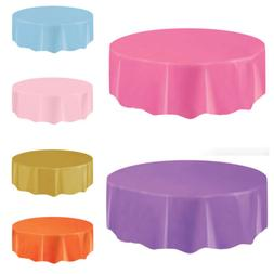 Round Plastic Table Cover BBQ Catering Wedding Home Party Su