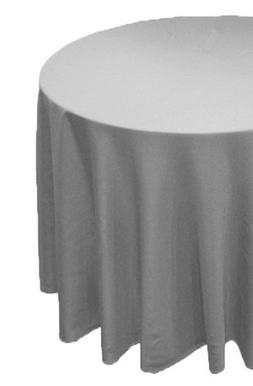 A-1 Tablecloth Company Round 90-Inch Poly Table Cloth, Grey
