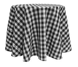 Ultimate Textile 60-Inch Round Polyester Checkered Tableclot