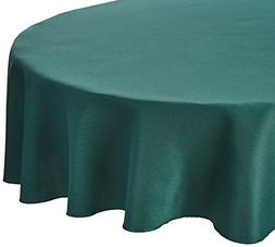 LinenTablecloth 70-Inch Round Polyester Tablecloth Hunter Gr