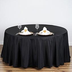 BalsaCircle 108-Inch Black Round Polyester Tablecloth Table