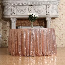 3E Home 108-Inch Round Sequin TableCloth for Party Cake Dess