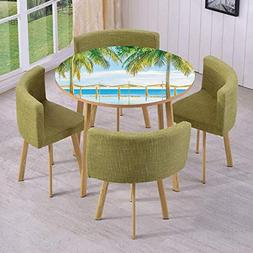 iPrint Round Table/Wall/Floor Decal Strikers/Removable/Exoti