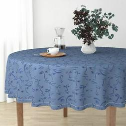 Round Tablecloth Artful Party Kids Colorful Fun Cartoony Joy