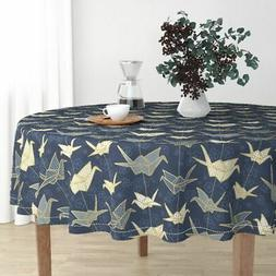 Round Tablecloth Origami Japanese Good Luck Hiroshima Crane