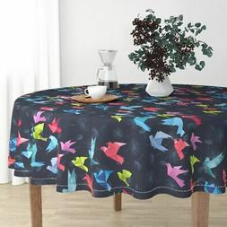 Round Tablecloth Origami Origami Birds Japanese Japan Hawaii