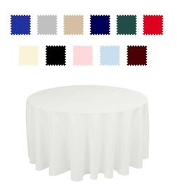 "70"" Round Seamless Tablecloth For Wedding Party Banquet 30"""