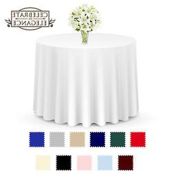 10 Pack Round Wedding Banquet Polyester Fabric Tablecloths M