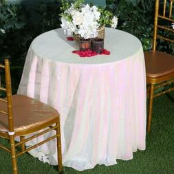 Round Wedding Table Linens Sequin Tablecloth Elegant Table O