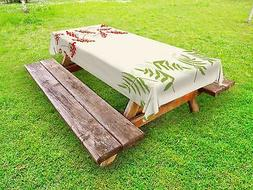 Rowan Outdoor Picnic Tablecloth by Ambesonne in 3 Sizes Wash
