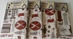 RUSTIC LODGE Vinyl Tablecloth Assortment  THE GREAT OUTDOORS