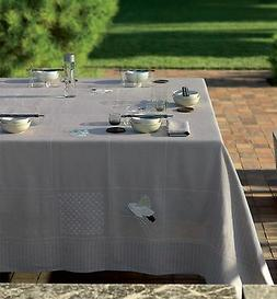 sashiko grey tablecloth birds embroidery asian linen