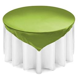 Lann's Linens Satin Wedding Table Overlay - Tablecloth Toppe