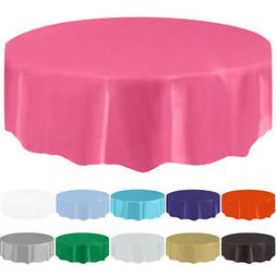 Satin Round Plastic Tablecloth Table Cover Table Cloth Weddi