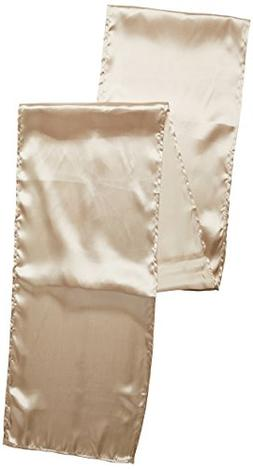 LinenTablecloth 14 x 108-Inch Satin Table Runner Beige