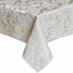 scroll damask jacquard tablecloth spillproof waterproof tabl