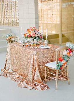ShinyBeauty 60inx102in Sequin Tablecloth for Wedding/Party-