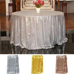 Sequin Tablecloth Cover Glitter Wedding Party Banquet Table
