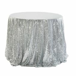 Sequine Round Tablecloth Table Cover For Banquet Party Resta