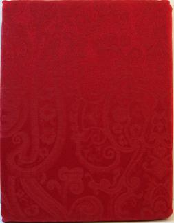 SET Ralph Lauren 60 x 104 Tablecloth  & 8 Napkins Red Paisle