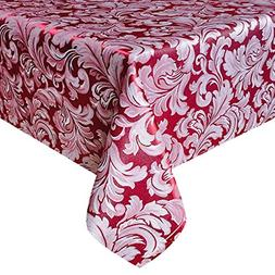 Eforcurtain Shabby Chic Damask Table Cover Heavy Weight Poly