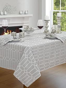 "Creative Dining Group Shimmer Fabric Tablecloth, 60 by 104"","