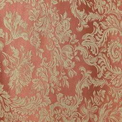 Sienna Clay BURNT Orange Damask Rectangle Tablecloth  cotton