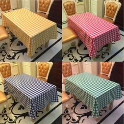 Simple Gingham Wipe PVC Tablecloth Oilcloth Vinyl Square Tab