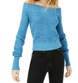 Free People Size Large Sugar Rush Sweater Blueberry Combo Of